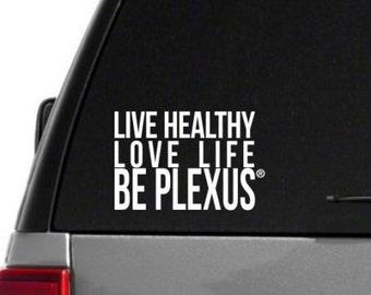 SALE-Live Healthy, Love Life, Be Plexus Car Decal - Box Style - Plexus Compliant!