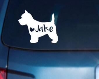 Westie Car Decal, Westie Dog Decal, West Highland Terrier Decal, Westie Decal, Westie Sticker, Westie Dog, Westie