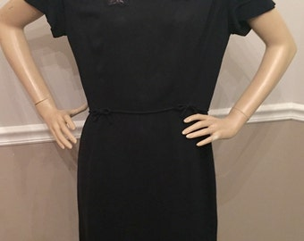 Amazing Navy 40's Fred A Block Original dress / Large / size 12-14