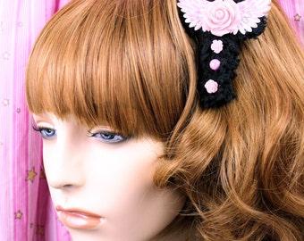 Sweet Lolita Hair Accessory-Fairy Kei Accessory-Alligator Clip-Women's Hair Accessory-kawaii accessory-Lolita head accessory-Angelic Pretty