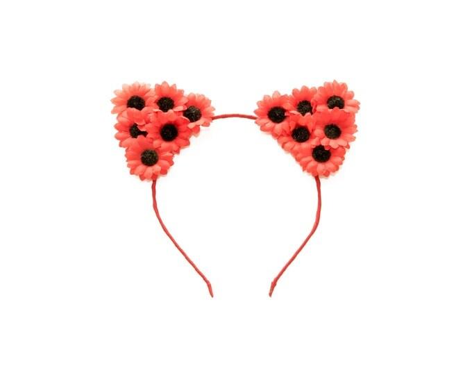 Red Cat Ear Headband