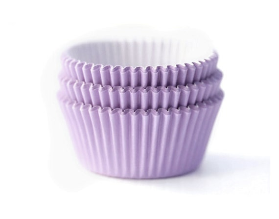 Mini Light Lavender Lilac Solid Color Cupcake by ChicChicFindings