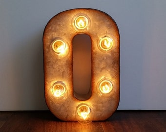 "Metal Marquee Sign 7"" Letter Lights - CUSTOM COLORS AVAILABLE"
