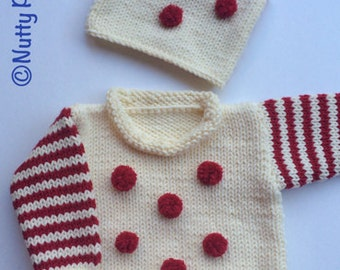Knitting Pattern * Max Pullover * baby, toddler, child sizes * instant download pdf pattern #502 * Max Hat is a Gift * chunky sweater *