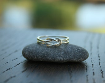 Knot Ring, Love Knot Ring, Sterling Silver Knot, Square Knot, Reef Knot, Tie the Knot, Bridesmaid Gift, Nautical Jewelry, Shiny Knot Ring