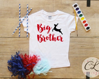 Christmas Big Brother Shirt / Baby Boy Clothes Big Brother Christmas Outfit Matching Little Bro Sibling Set Pregnancy Announcement Xmas 199