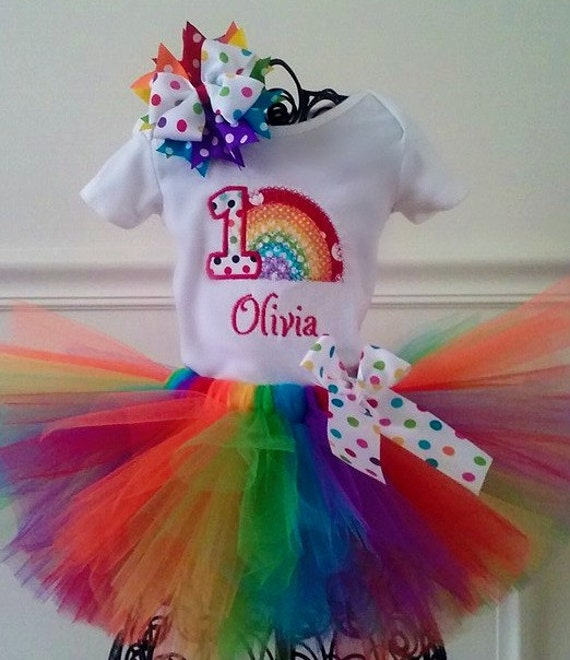 1st Birthday Rainbow Tutu Outfit By GigglesandWiggles1 On Etsy