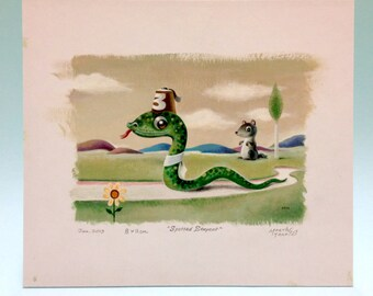 The Spotted Serpent original artwork by Martin Harris