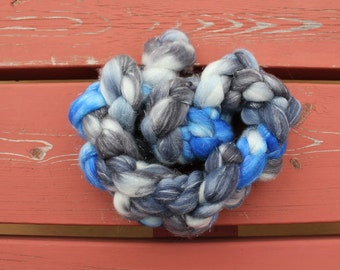 Partly Cloudy Hand Dyed Sparkle Fibre