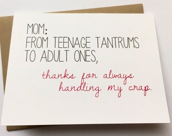 """Shop """"mom from daughter"""" in Paper & Party Supplies"""