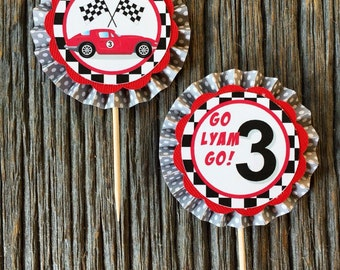 Race Car Cupcake Toppers (set of 12)