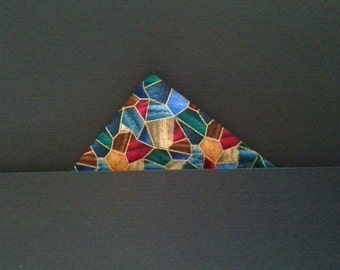 Christmas stained glass pocket square