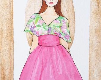 Marchesa Resort 2016 Fashion Illustration
