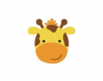 Giraffe Face Machine Embroidery Design Multiple Formats Available - Instant Download