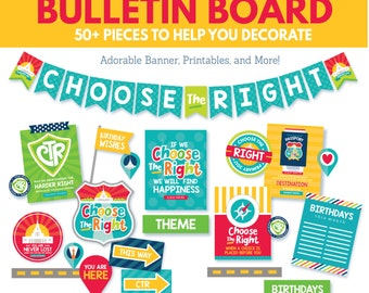 2017 LDS Primary Bulletin Board Printables