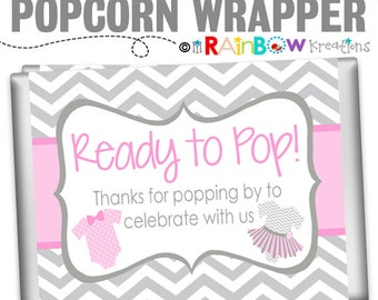 POPCW3-796: DIY Ties or Tutus Popcorn Wrapper -  Popcorn Wrapper