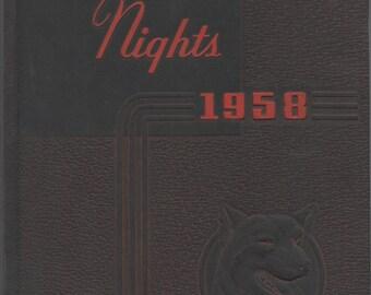 Northeastern University, Boston, Massachusetts, Yearbook, NU Nights 1958,  illustrated, 60 pages, good shape