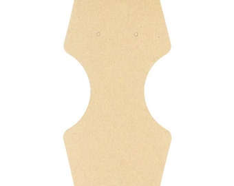 "Necklace/Bracelet/Earring Hanging Card 2-1/4"" x 2-3/4"" Kraft (Pkg of 100)  (DCO850)"
