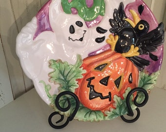 Decorative Halloween Plate