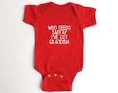 Christmas Baby Shirt - Newborn Red Tshirt - New Baby Gift from Grandma