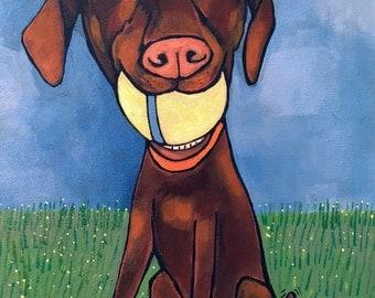 Pet Portrait/Your pet/11x14 Custom Animal Paintings/Original Painting/fine art