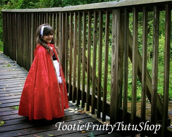 Little Red Riding Hood or Witch cape costume Kids 3T-8 choose from 3 different colors