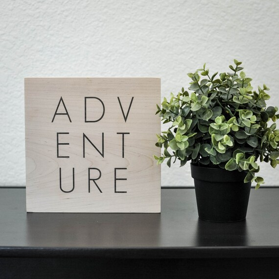 Adventure, Wooden Plaque, Wood Wall Art, Wooden Wall Art, Wood Signs, Wooden Sign, Wall Decor, Wood Decor, Adventure Art, The Copper Anchor