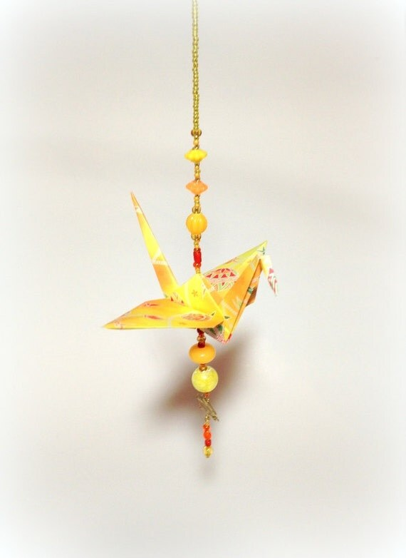Sale Origami Crane Decorations Hanging Crane Ornament