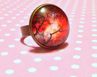 Autumn Night Ring / October Trees Ring / Halloween Horror Ring / Ring for Autumn / Jewelry For Fall / Haunted Forest / Creepy Tree Branches