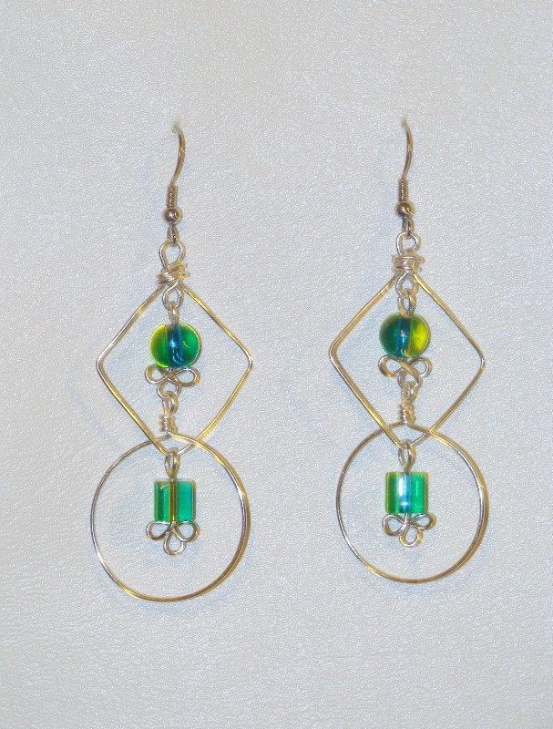 Mixed Shape Flourish Handmade Earrings READY TO CUSTOMIZE