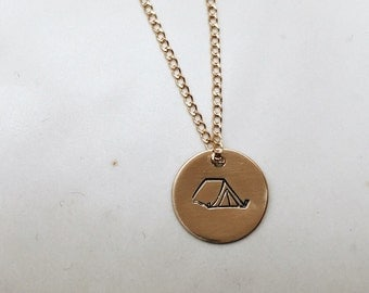 Camping Lovers Charm Necklace
