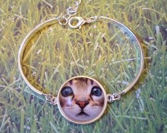 Purrfect Bracelet - Kitten jewelry cat - jewelry cat face -Kitty cat bracelet