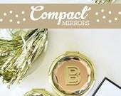 Personalized Mirror Compact Mirror Personalized Custom Compact Mirror Personalized Bridesmaid Gift Ideas (EB3137) - Compact Pocket Mirror