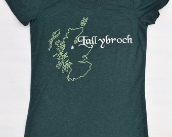 Inspired By Outlander Shirt, Scotland, Embroidered Lallybroch Tee, Scottish, Outlander Clothes, Bookish, Booklover