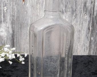 Antique Bottle, Porters Pain King Bottle, Apothecary Medicine Bottle, Cork Top Bottles, Antique Cork Top Medicine Bottles, Bud Vase