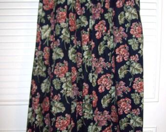 Vintage Herman Geist Pinwale Corduroy Maxi Skirt Size 4 Small