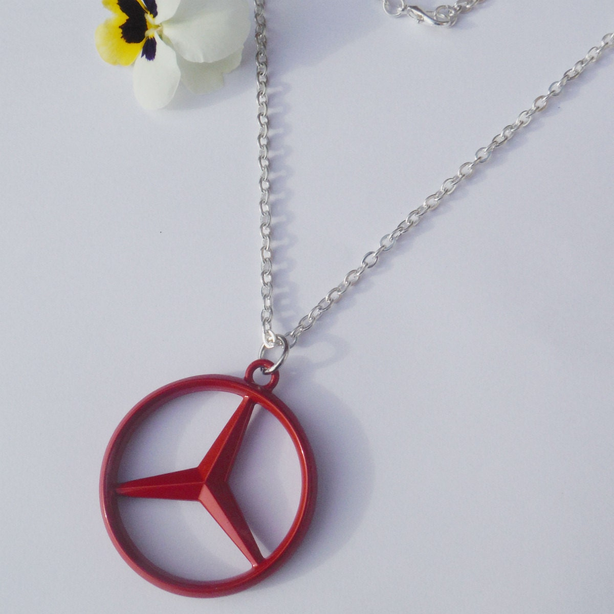 Mercedes benz black or gold pendant mirror dangler by for Mercedes benz pendant