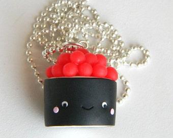 Maki sushi, eggs, kawaii, necklace, necklace