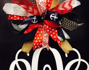 Huge Bow for Hanging Wood Monograms for Any Season