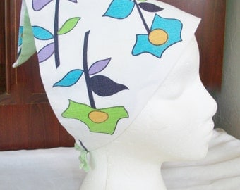 Vintage Flower Power Head Kerchief 1960's
