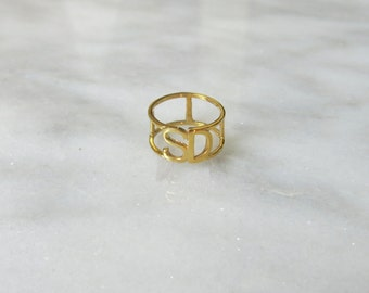 SD 14k Gold Pinky Ring or Midi Ring for San Diego