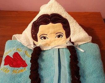 Dorothy Wizard of Oz Hooded Towel