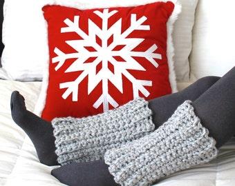 SALE Crochet Ankle Warmers - Marble Grey