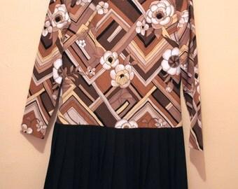 Vintage Toni Todd Pleated Dress