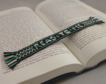 Bookmark - Handwoven inkle band with a message