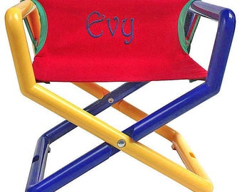 Personalized Kids Director Chair That Travels Anywhere (100% Outdoors  Safe), In Primary