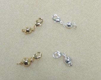 MAGNETIC CLASP - Removable Magnetic Clasp, Silver Magnetic clasp, Gold Magnetic clasp, Magnetic Extender