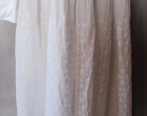SALE! Victorian Skirt Edwardian Skirt Summer Skirt White Eyelet Skirt Gibson Girl Fashion Edwardian Fashion