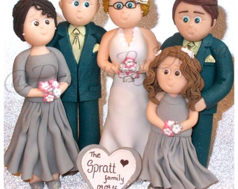 family wedding cake toppers uk family cake topper etsy 14186