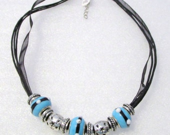 898 - Black Beaded Necklace